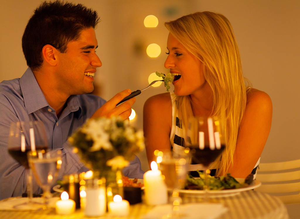 eating something fancy together can help couples relax