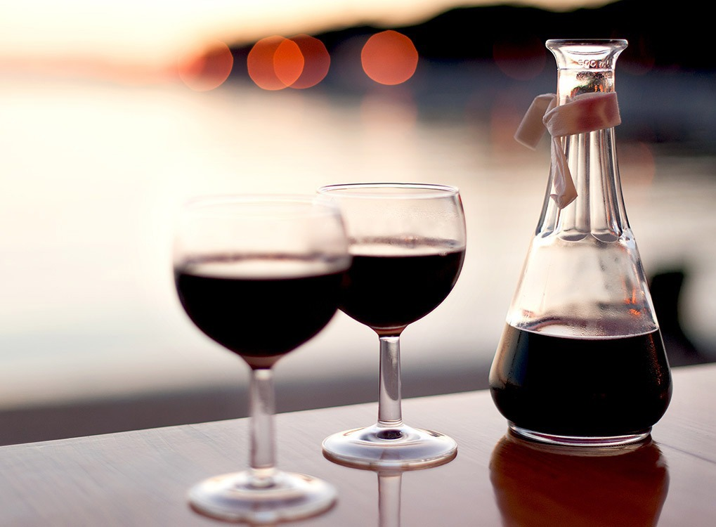 Red Wine, which is one of the best anti-aging foods for men north of 40.