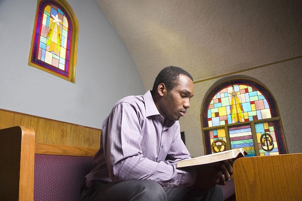 man at church