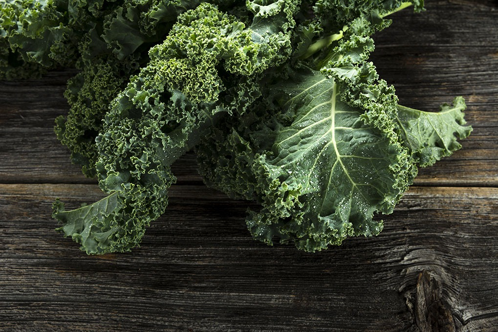 Kale, one of the best stress busters.