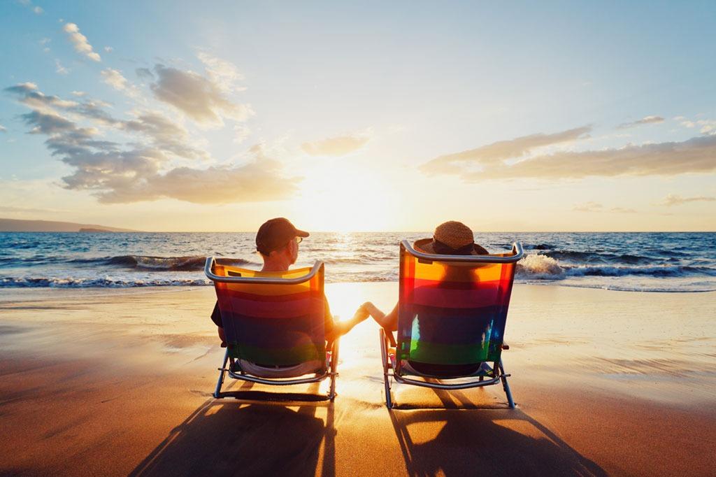 Beach, couple on the beach