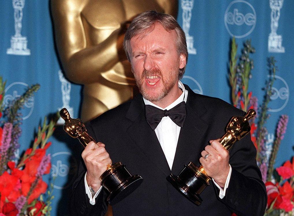 vegan celebrities - 23MAR98: Director JAMES CAMERON at the 70th Academy Awards. - Image
