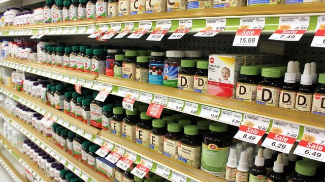 vitamins and supplement aisle in the store, best multivitamin for men