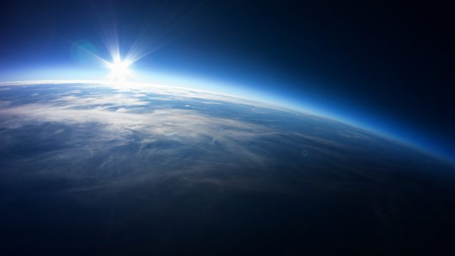 Shot of planet earth from space.