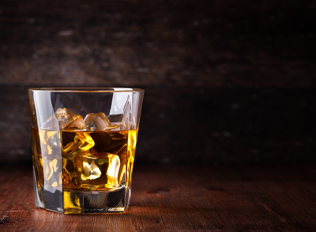glass of whiskey, state fact about alabama