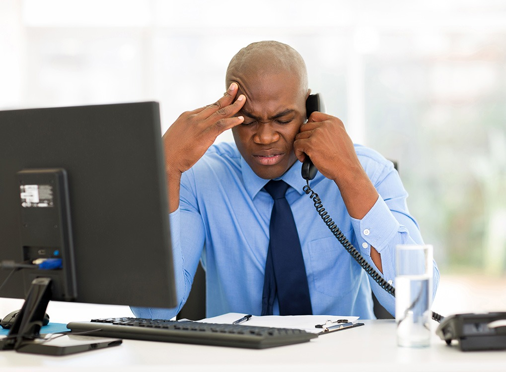 stressed out man men's health concerns over 40