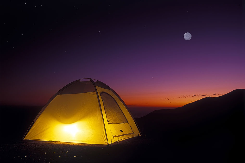 going camping together can help couples relax
