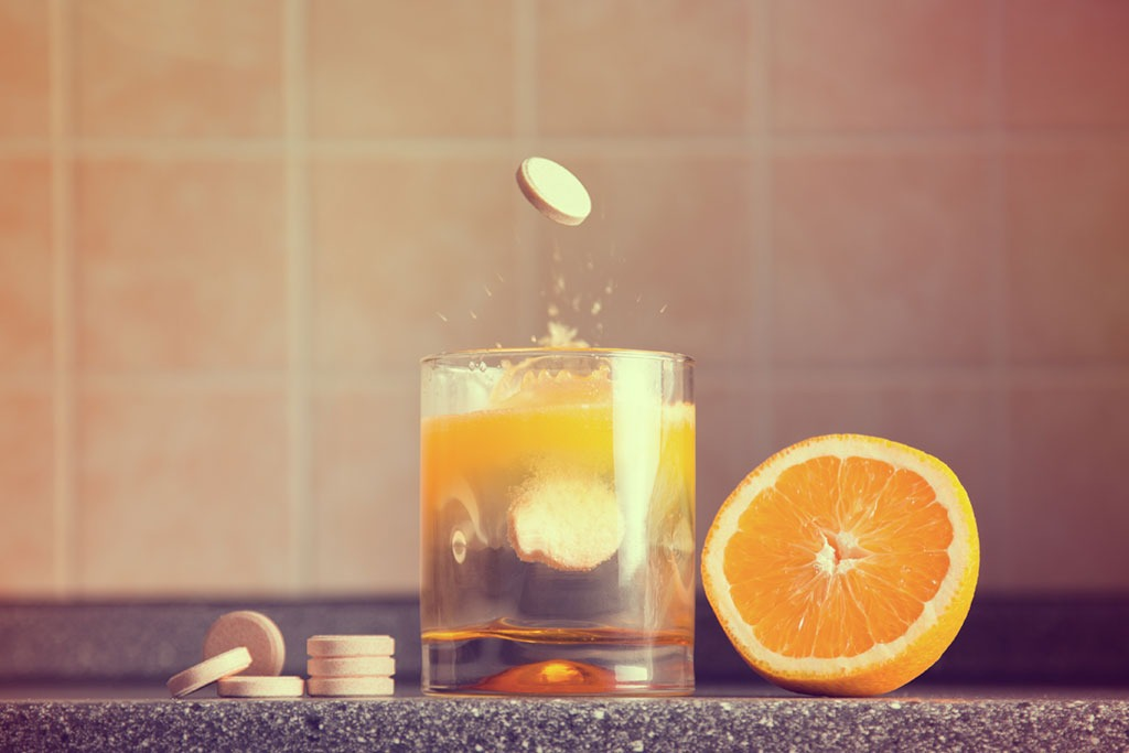 healthy man orange juice