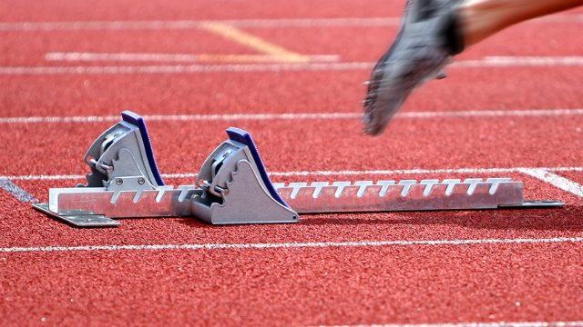 Runner at starting block