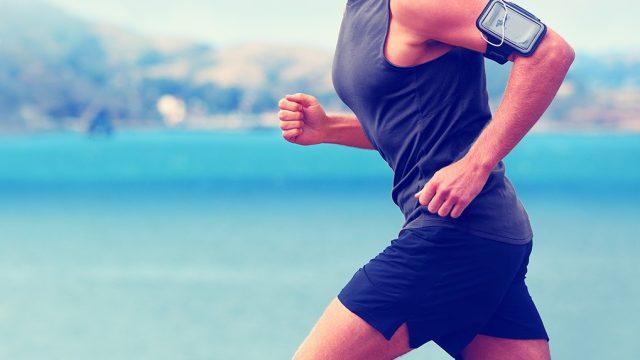 man running marathon feats