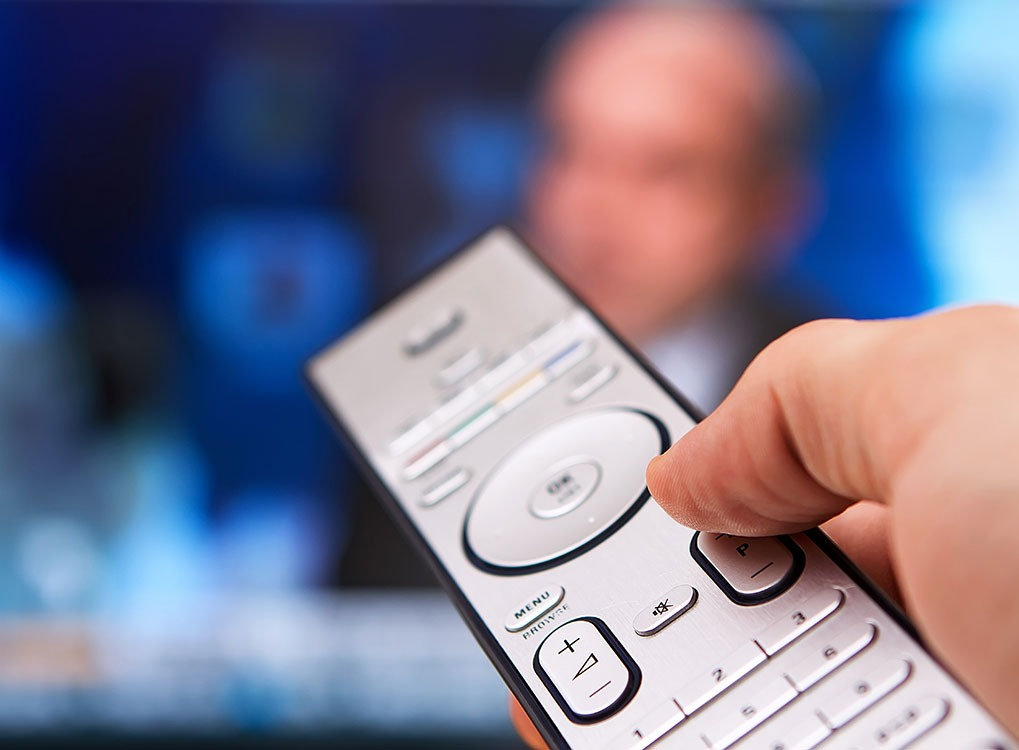 Man using a Remote Control Dirtiest Things in Your Home