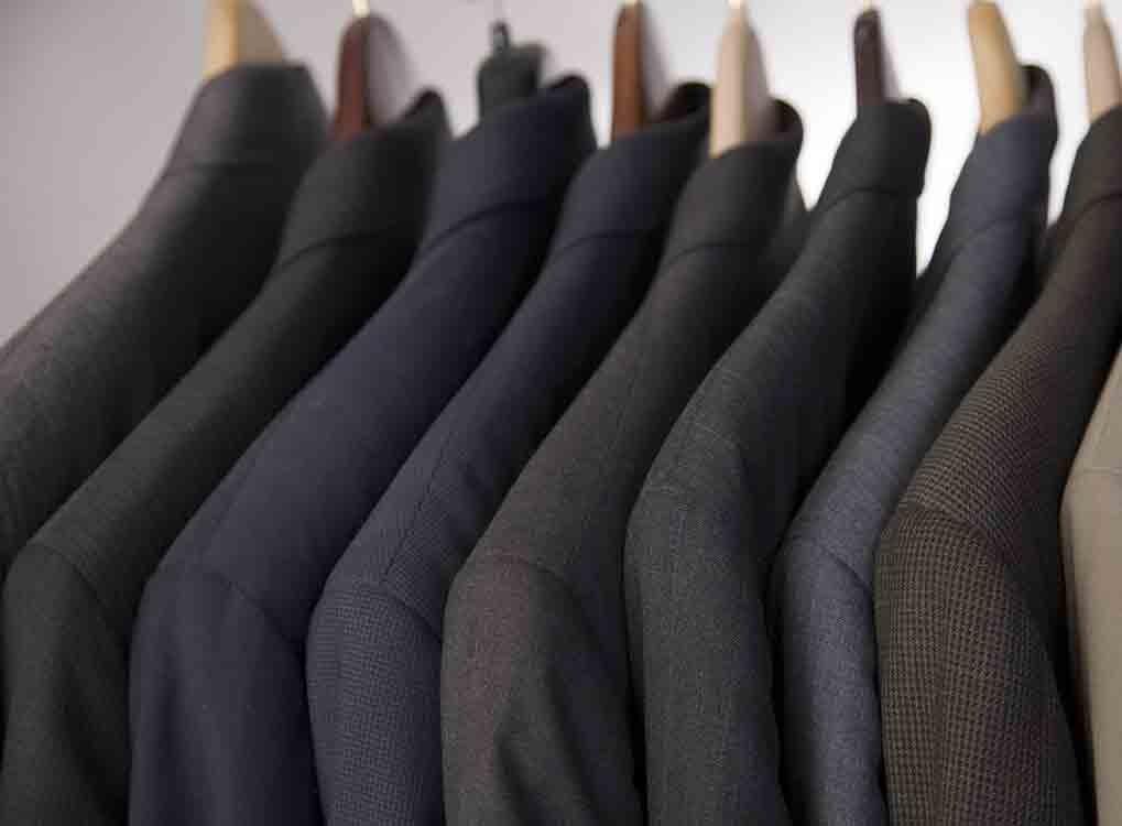 Closet of suits