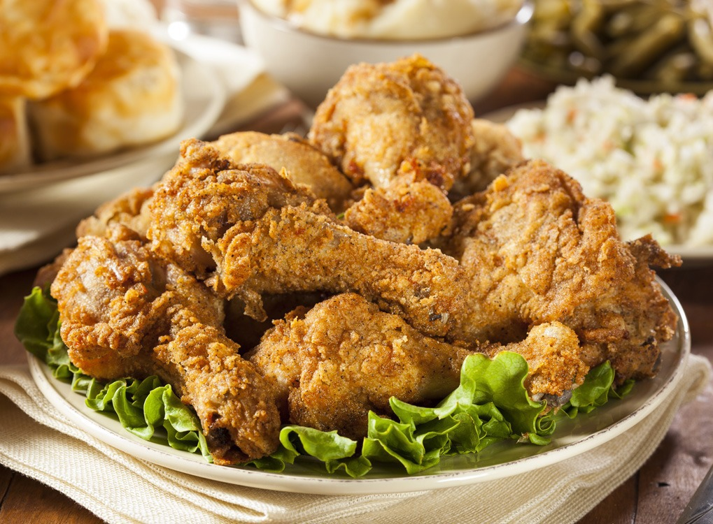 fried chicken on a table, weight loss motivation