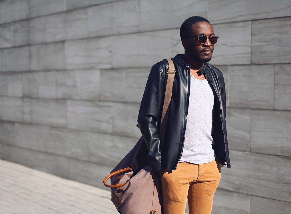 man wearing a leather jacket - how to dress over 50