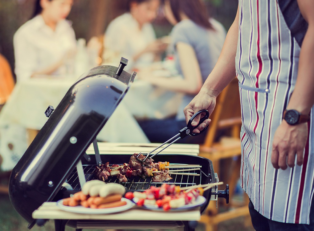 man grilling things burglars know about your home
