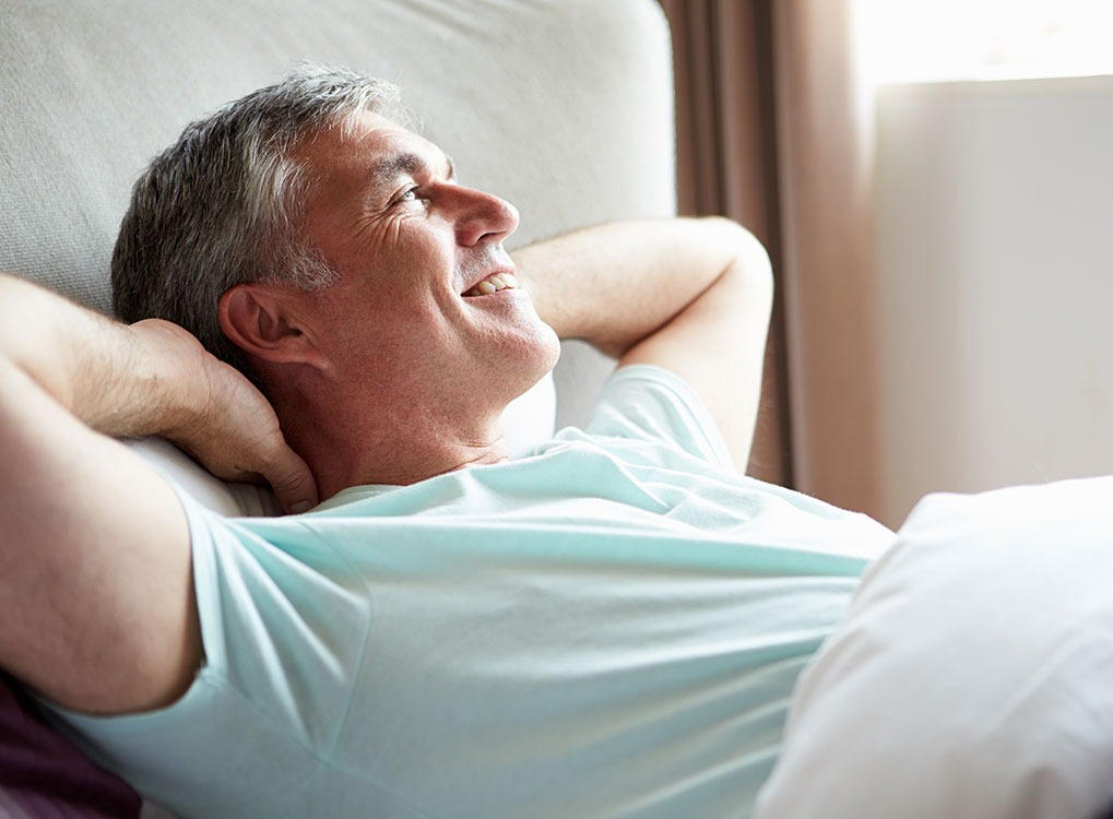 Man Lying in Bed Mindfulness