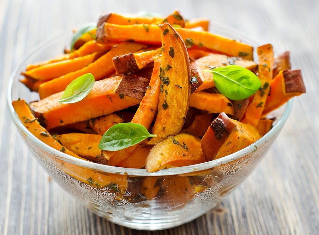 Sweet potato slices build muscle