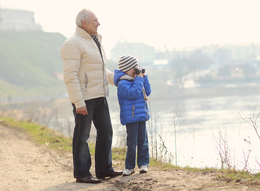 grandfather and granchild